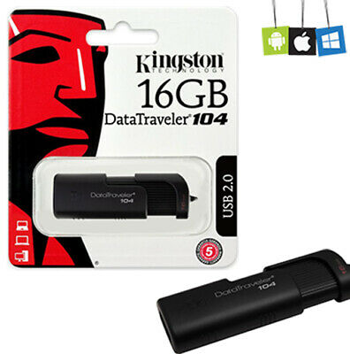 USB Speicher Datenstick Kingston DataTraveler 104 16GB, USB-A 2.0 Flash drive