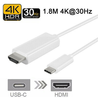 USB Type C Thunderbolt 3 to HDMI Cable Adapter (4K @60Hz, 1.8M) Mobile Phones