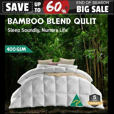 Bedding Bamboo Microfiber Quilt Microfibre Doona Duvet All Size Summer & Winter