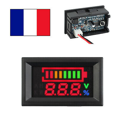 LCD Indicateur Batterie Indicateur Indicateur Capacité Testeur Tension mètre12V