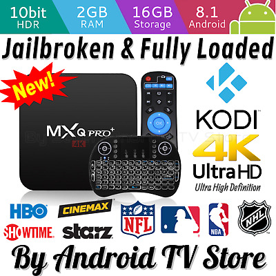 2019 MXQ Pro Plus 4K HDR Smart TV Box 2GB/16GB Android 8.1 Quad-Core Kodi 18.1