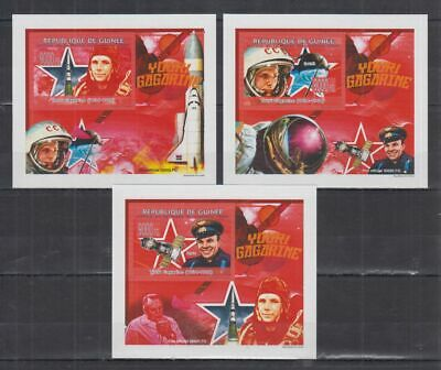 Y216. Guinea - MNH - Space - Astronauts - Deluxe - 2008 - Imperf