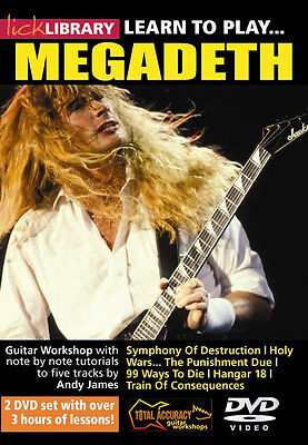 New Learn To Play Megadeth Lick Library Guitar Dvd