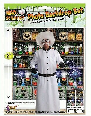 Halloween Hanging Dr Crazy With Lights /& Sound Mad Scientist Decoration 90cm