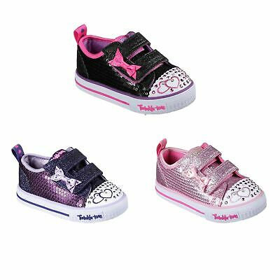 SKECHERS TWINKLE TOES Itsy Bitsy Shoes Infant Girls Trainers