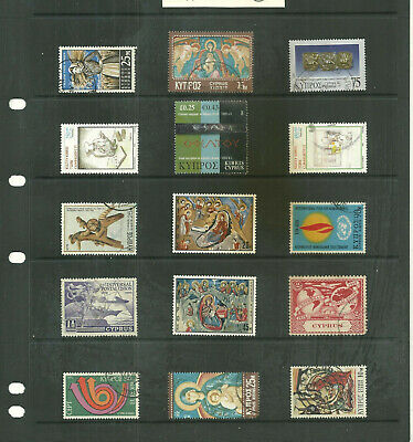 Commonwealth   Cyprus 3  stock sheet  mix collection stamps