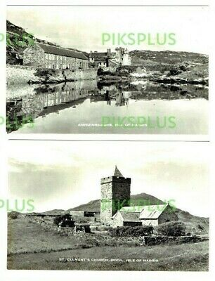 Old Scottish Island Postcards Isle Of Harris Scotland Real Photos Vintage 1950S