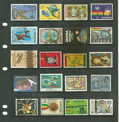 Commonwealth Ghana   3 stock sheet mix collection stamps