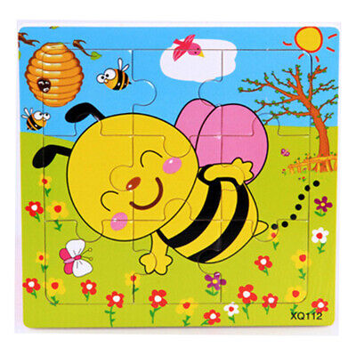 Wooden Jigsaw Puzzle Early Kids Educational Toy Baby Fashion New Casual Cartoon