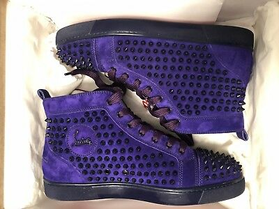 the best attitude 11145 04291 SZ 42.5 CHRISTIAN Louboutin Louis High Top Sneaker Pony Hair ...