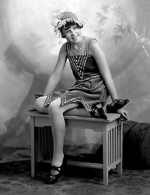 """1920's Young Flapper Girl Ms. Woods Vintage/ Old Photo 8.5"""" x 11"""" Reprint"""