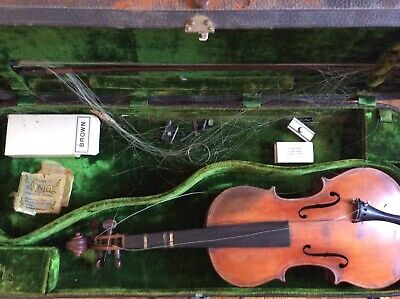 Antique Violin 1908 by Joseph Hebert N.H with case