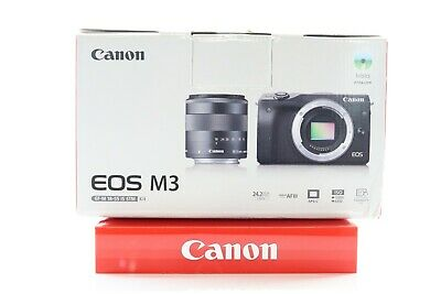 Canon EOS M3 24.0MP Digital Camera - Black Kit w/ 18-55mm EF-M IS STM Lens -BB-
