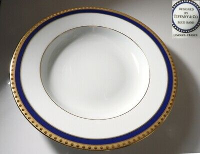 TIFFANY Limoges China BLUE BAND Rimmed Soup Bowl(s)
