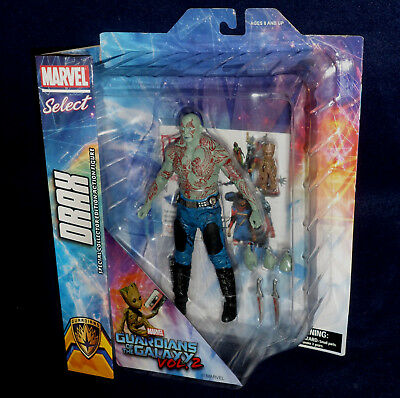 """Marvel Select Guardians of the Galaxy Vol. 2 DRAX & BABY GROOT 7"""" Action Figure"""