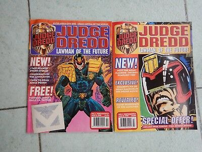 Judge Dredd magazines, Aug 1995, issues 2 and 3