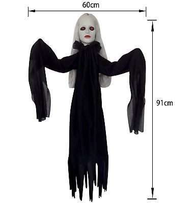 91cm Halloween Wandbehang Led Red Eyes Ghost Demon Dekoration Party Requisit