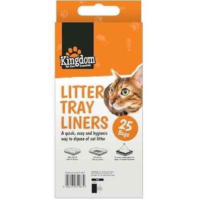 25 x 70cm Cat Litter Tray Liners Bags Pet Waste Disposal Toilet Kitty Cleaner
