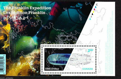 """Canada - """"SHIPS ~ SHIP WRECKS ~ THE FRANKLIN EXPEDITION"""" MNH MS 2015 !"""