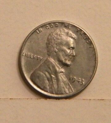 Uncirculated 1943 Lincoln Wheat Back Steel Cent Penny Excellent FREE Shipping