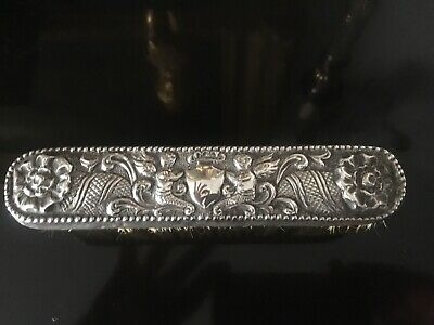 Victorian Solid Silver Clothes Brush 1885 Rosenthal Jacob & Co Mermaid Cherubs