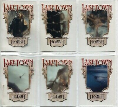 The Hobbit The Desolation Of Smaug Complete 6 Card Chase Set Lake Town