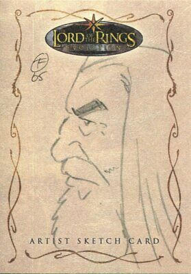 Lord Of The Rings Evolution Sketch Card By Otis Frampton