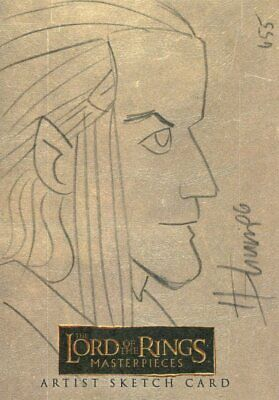 Lord Of The Rings Masterpieces Sketch Card By Howard Shum