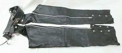 Vintage Womens HARLEY DAVIDSON Leather Chaps, Size XS