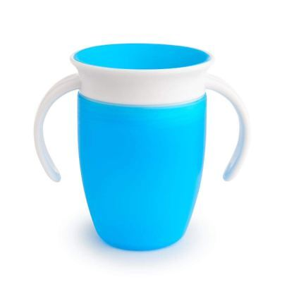 Munchkin MIRACLE 360 TRAINER CUP 207ML BLUE Baby Feeding BN