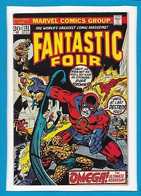 """Fantastic Four #132_March 1973_Vf+_""""omega...the Ultimate Assassin""""_Bronze Age!"""