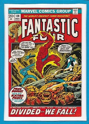 Fantastic Four #128_November 1972_Very Fine_Four Page Full Colour Pin-Up Intact!