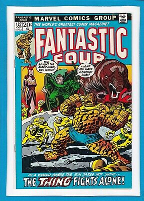 """Fantastic Four #127_October 1972_Fine+_""""the Thing Fights Alone""""_Bronze Age!"""
