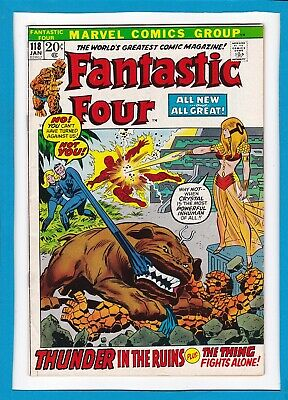 """Fantastic Four #118_January 1972_Very Fine_""""the Thing Fights Alone""""_Bronze Age!"""