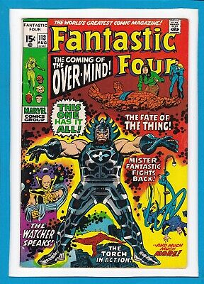 """Fantastic Four #113_August 1971_Fine_""""the Coming Of The Over-Mind""""_Bronze Age!"""