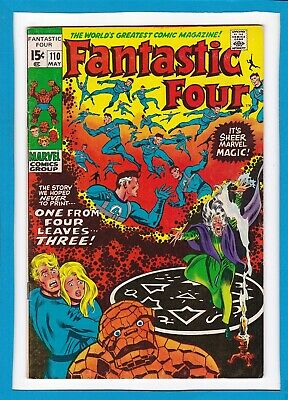 """Fantastic Four #110_May 1971_Very Fine_""""one From Four...leaves Three""""!"""