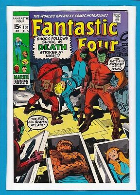 """Fantastic Four #101_August 1970_Very Fine_""""death Strikes At Night""""_Bronze Age!"""