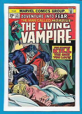 Adventure Into Fear #25_December 1974_Very Fine+_Morbius..the Living Vampire!