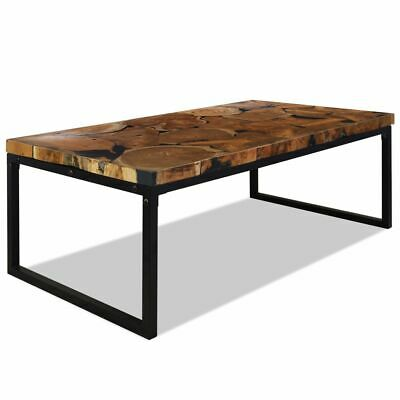 vidaXL Teck Table Basse Résine 110x60x40 cm Table d'Appoint Meuble de Salon
