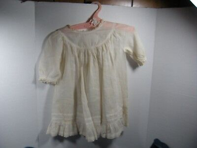 Victorian Antique Child's Christening dress White Edwardian lace insert doll