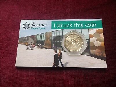 2018 Sir Isaac Newton 50p Royal Mint I struck this coin. Uncirculated. Limited