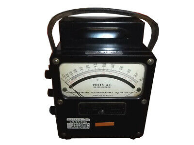 Weston Electrical Instruments, model 433, 88603, 25-125 cycles, AC Volt meter