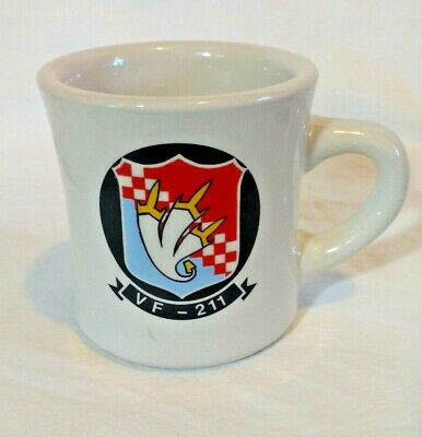 "VF-211 Squadron Fighters , ""ADC LOOMIS"" Air Warfare 10oz Mug Cup Cann-Art"