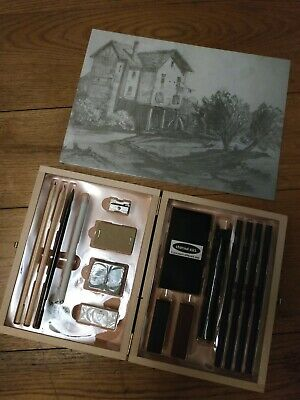 Charcoal Drawing sketching ARTISTIC professional SET BY crelando. Gift idea