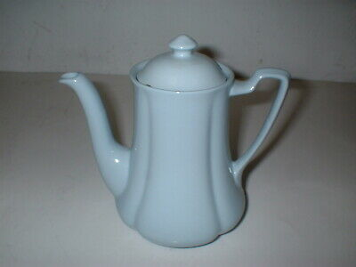 Miniature Coffee or Hot Water Pot  Greydawn Blue Scalloped JOHNSON BROTHERS