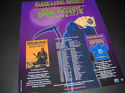 a280ac4cb0650 BLACK LABEL SOCIETY 2006 Doom Troopin  TOUR DATES Promo Poster Ad mint cond.