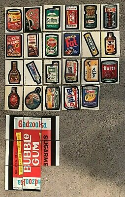 VINTAGE WACKY PACKAGES 1-12th SERIES 212 STICKERS 40 PUZZLE CHECKLIST LOT TOPPS