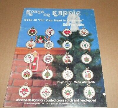 Kount On Kappie Counted Cross Stitch Pattern Leaflet Put Your Heart In Christmas
