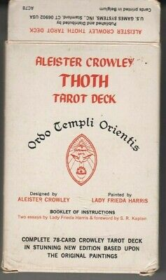 Aleister Crowley Vintage Thoth LG Tarot Deck -Complete w/Box, All Cards,Booklet