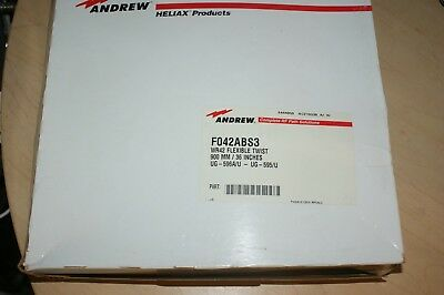 Andrew WR42 Flexible Twist Waveguide 3 Ft. NOS F042ABS3 18-26.5 GHz